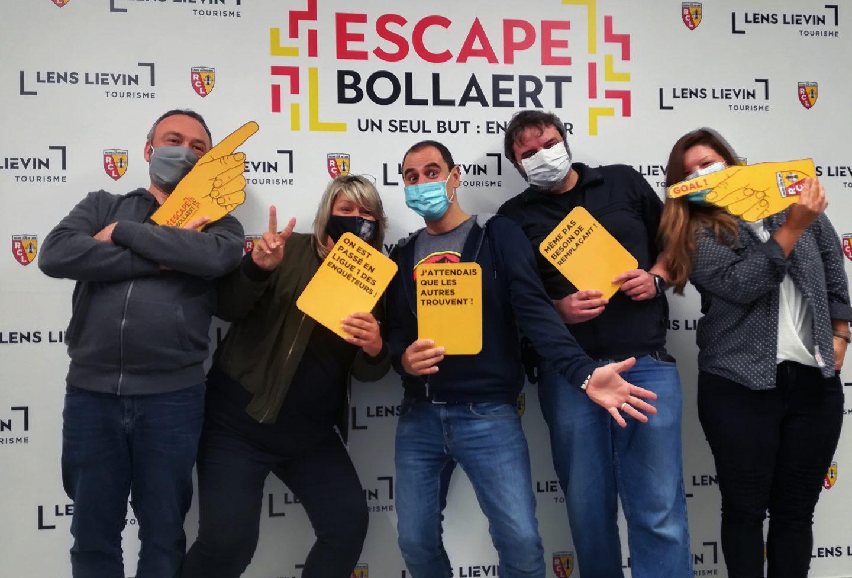 L'équipe de Télé Gohelle à l'Escape Bollaert