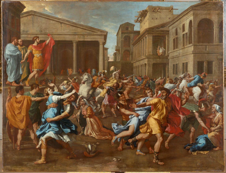 Nicolas Poussin_L'Enlèvement des Sabines_1637_Paris, musée du Louvre © RMN-Grand Palais (musée du Louvre)-Tony Querrec