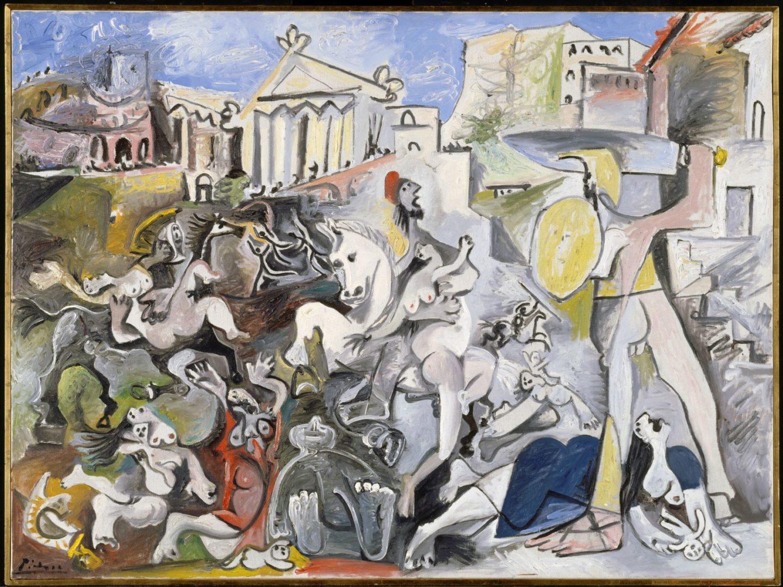 Pablo Picasso_L'Enlèvement des Sabines, Mougins_1962 © Succession Picasso 2021 © Centre Pompidou MNAM-CCI, Dist. RMN-Grand Palais_Christian Bahier_Philippe Migeat